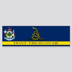 Dont Tread on Me Maine Flag Sticker (Bumper)