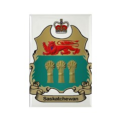 Saskatchewan Shield Rectangle Magnet (100 pack)