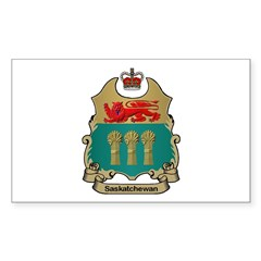 Saskatchewan Shield Rectangle Decal