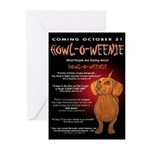 Scary Howl-O-Weenie Greeting Cards (Pk of 10)