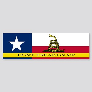 Dont Tread on Me Texas Flag Sticker (Bumper)