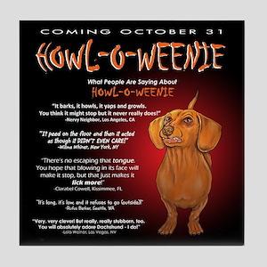 Scary Howl-O-Weenie Tile Coaster