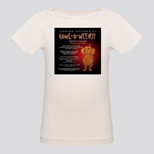 Scary Howl-O-Weenie Organic Baby T-Shirt