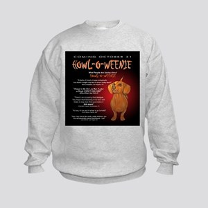 Scary Howl-O-Weenie Kids Sweatshirt