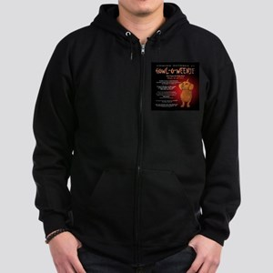 Scary Howl-O-Weenie Zip Hoodie (dark)