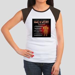 Scary Howl-O-Weenie Women's Cap Sleeve T-Shirt