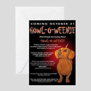 Scary Howl-O-Weenie Greeting Card