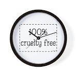 100% Cruelty Free Wall Clock