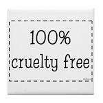 100% Cruelty Free Tile Coaster