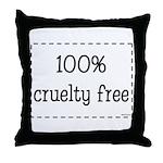 100% Cruelty Free Throw Pillow