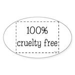 100% Cruelty Free Sticker (Oval)