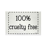 100% Cruelty Free Rectangle Magnet (100 pack)