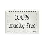 100% Cruelty Free Rectangle Magnet