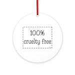 100% Cruelty Free Ornament (Round)