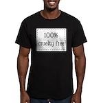 100% Cruelty Free Men's Fitted T-Shirt (dark)