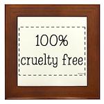 100% Cruelty Free Framed Tile