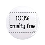 """100% Cruelty Free 3.5"""" Button (100 pack)"""