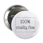 """100% Cruelty Free 2.25"""" Button"""