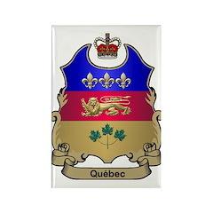 Quebec Shield Rectangle Magnet (10 pack)