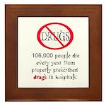 Anti-Medical drug use Framed Tile
