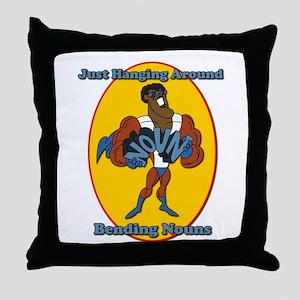 Verb Bending a Noun SchoolHouse Rock Throw Pillow
