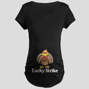 Lucky Strike Logo 13 Maternity Dark T-Shirt Design