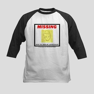 Missing Leprechaun Kids Baseball Jersey