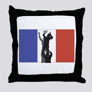 Rugby france Throw Pillow
