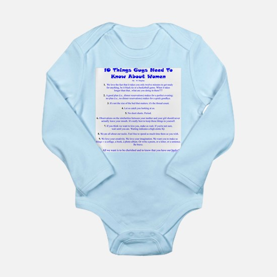 10 Things...Women Long Sleeve Infant Bodysuit