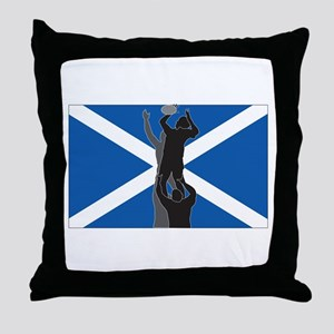 rugby scotland Throw Pillow