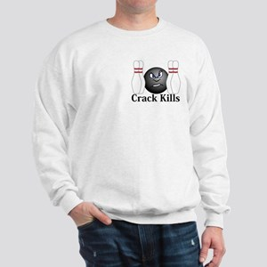Crack Kills Logo 3 Sweatshirt Design Front Pocket