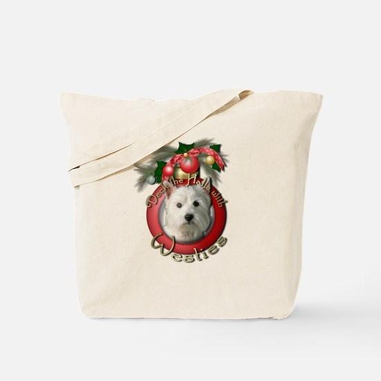 Christmas - Deck the Halls - Westies Tote Bag
