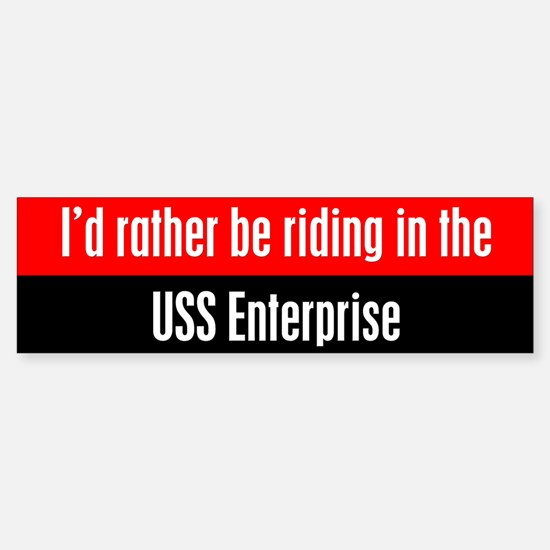 I'd Rather be Riding in the U Sticker (Bumper)