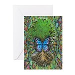 Butterfly Tree Greeting Cards