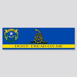 Dont Tread on Me Nevada Flag Sticker (Bumper)