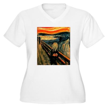 Scream 40th Women's Plus Size V-Neck T-Shirt