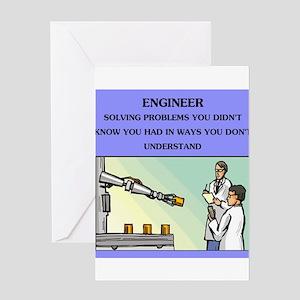funny engineering joke Greeting Card