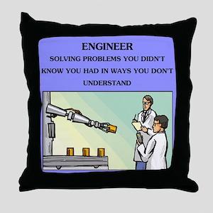 funny engineering joke Throw Pillow
