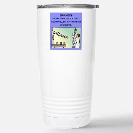 funny engineering joke Stainless Steel Travel Mug