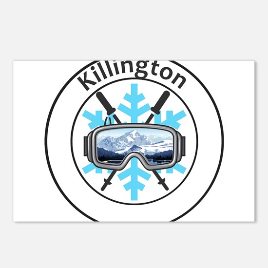 Killington Ski Resort - Postcards (Package of 8)