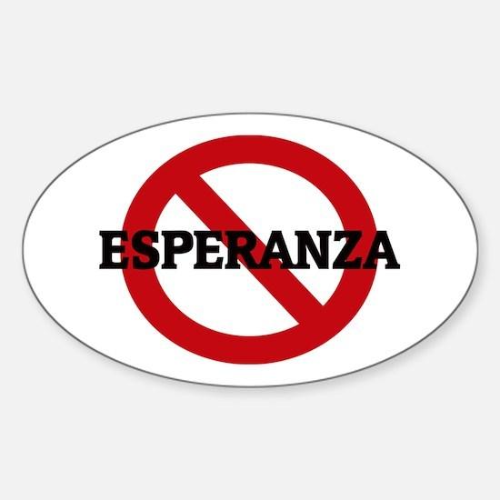 Anti-Esperanza Oval Decal