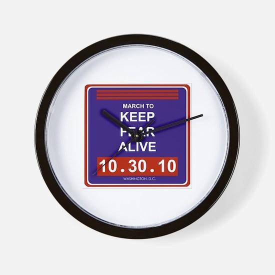 Keep fear alive Wall Clock
