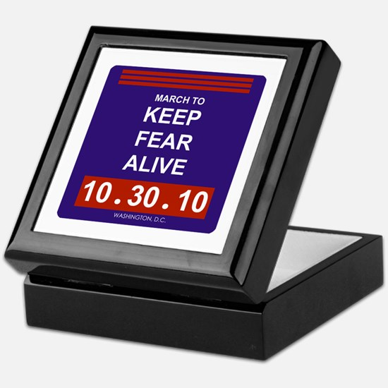 Keep fear alive Keepsake Box