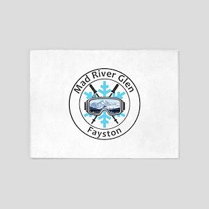 Mad River Glen - Fayston - Vermon 5'x7'Area Rug