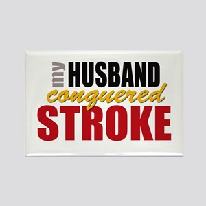 My Husband Conquered Stroke Rectangle Magnet