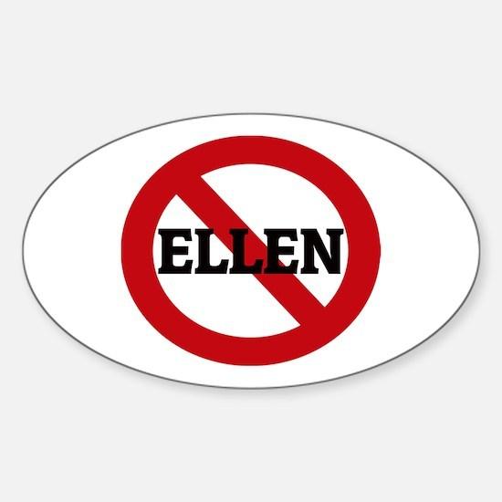Anti-Ellen Oval Decal