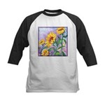 Sunny Sunflowers Watercolor Kids Baseball Jersey