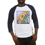 Sunny Sunflowers Watercolor Baseball Jersey