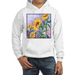 Sunny Sunflowers Watercolor Hooded Sweatshirt