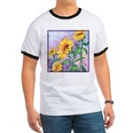 Sunny Sunflowers Watercolor Ringer T